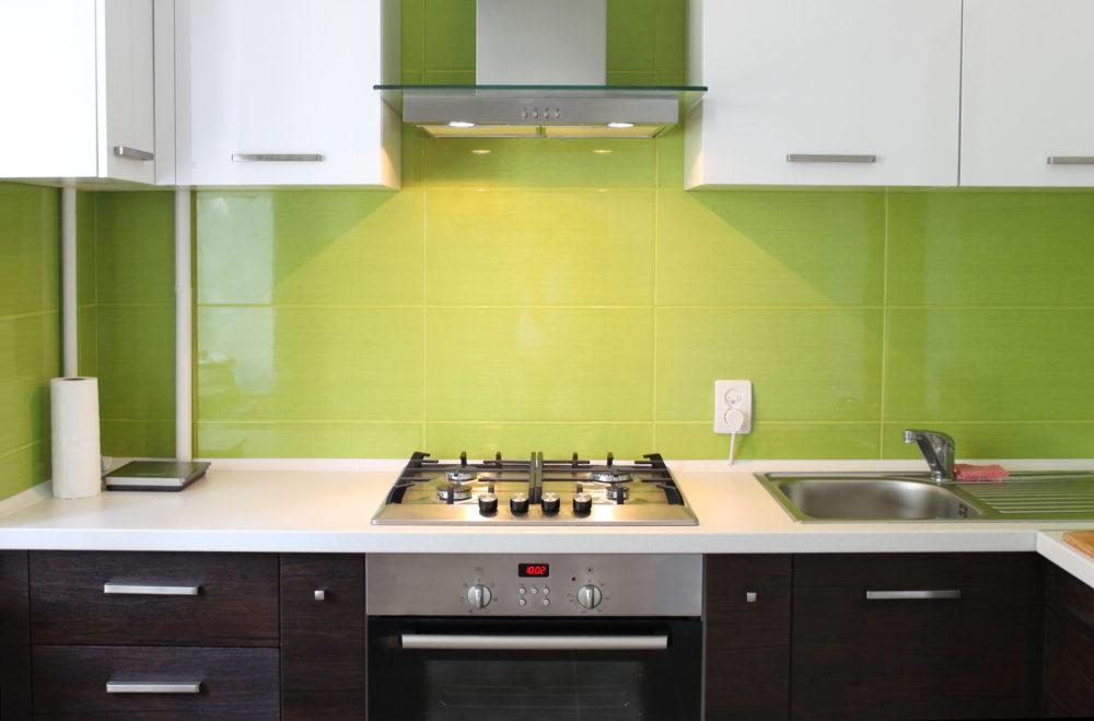 Green Kitchen Splashback